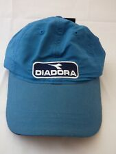 BNWT Junior Kids Diadora Teal Blue Vintage Sports Baseball Cap Back Strap