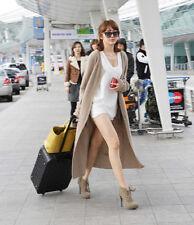 New Winter Top Mink Cashmere Cardigan Sweater Women Very Long Sweater