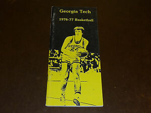 1976 1977 GEORGIA TECH COLLEGE BASKETBALL MEDIA GUIDE  EX-MINT
