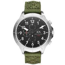 A|X Armani Exchange Men's Chronograph Green Nylon Strap Watch 50mm AX1759