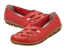 Women's Genuine Leather Hollow Cut-Out Lightweight Casual Flats Shoes Sandals