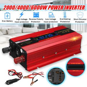 2000/4000/6000W Auto Solare Potenza Inverter DC12V A AC220V Onda Sinusoidale F