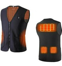 USB Electric Heating Carbon Fiber Vest for Winter Outdoor Activities Large