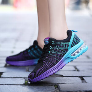 Women/'s .Soft Sport Shoes Gym Air Cushion Sneakers Slip On Running Walking Shoes