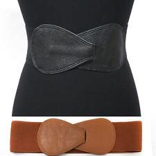 WOMEN Western Fashion ELASTIC Bowknot Hook WAIST HIP WIDE BELT Stretch Corset