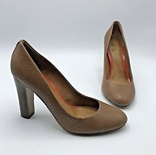 0010d2f5066 Coach Women Brown Snake Skin Print High Heel Shoe Size 9B Pre Owned