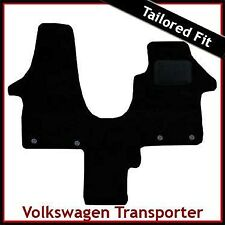VW Transporter T5 Single Passenger Seat 2003-2015 Tailored Carpet Mat BLACK
