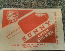 Frecker's Ice Cream Co. Columbus Ohio ice cream bar wrapper bag 1940's Cream Bar