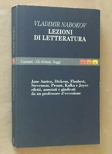 Vladimir Nabokov - LEZIONI DI LETTERATURA - Garzanti, Joyce Kafka Proust Dickens