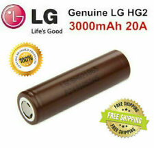 100% Genuine LG HG2 18650 3000MAh 30A IMR Rechargeable Lion Batteries