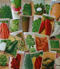 24 Original vintage French seed packet labels vegetable dating to the 1920's