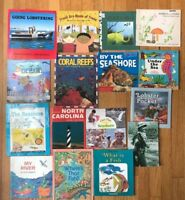 Lot 16 Kids Beach & OCean Themed Picture Books Fishing Lobsters