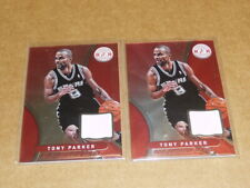 TONY PARKER JERSEY LOT OF 2 SPURS TOTALLY CERTIFIED L1142