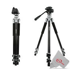 Vivitar Cinema 71 Inch Aluminum Alloy Tripod 360° Fluid Head with Pan Tilt
