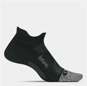 3 Pairs Feetures Elite Light Cushion No Show Tab Socks Black Size M Runing Socks