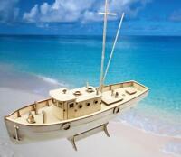 Sailing Boat Model Wooden Ship Models 1/64 Scale DIY Assembly Educational Kits