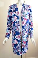 NWT Chico's Long Sleeve Outline Floral Open Front Cardigan Sweater Sz 1 (M 8/10)
