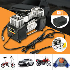 Portable 150PSI Car Tyre Air Compressor Double Cylinder Auto Tire Inflator Pump