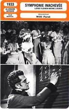 FICHE CINEMA : LA SYMPHONIE INACHEVEE  Eggerth,Chandler 1933 Unfinished Symphony