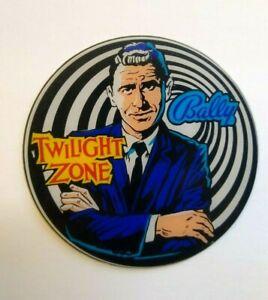 The Twilight Zone Bally Rod Serling Pinball Drink Coaster Original Plastic Promo