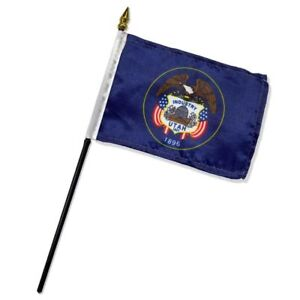 "Utah State Flag 4""x6"" Desk Table Stick"