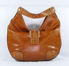 Michael Kors Women's Bag Purse Shoulderbag Camel Leather Buckled Studs