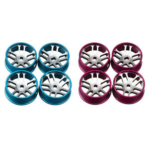 4Pcs Metal Wheel Rim Set Fit for WLTOYS K969 K979 K989 1/128 RC Car Parts
