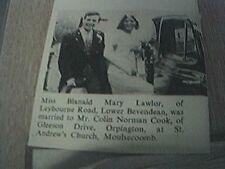 ephemera 1965 sussex wedding blanaid lawlor bevendean colin cook orpington