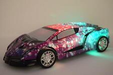 Lambo Rainbow Rechargeable Radio Remote Control Car LED Under Light - BLUE CAR
