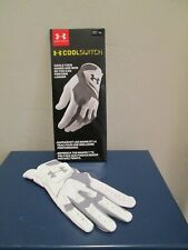 UNDER ARMOUR COOL SWITCH WHITE GRAY TRIM GOLF GLOVE MENS SIZE RIGHT - ML NEW