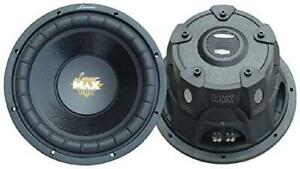Lanzar 10In Car Subwoofer Speaker - Black Non-Pressed Paper Cone, Stamped Steel
