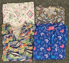New listing 4 Xl Misc Scrub Tops. Butterfly, Dolphin, Flower, Ambulance prints