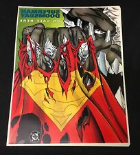 """1994 """"Superman Doomsday"""" store two side Promotional window poster 10 x 13 unused"""