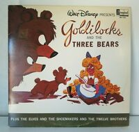 1963 WALT DISNEY Goldilocks & The Three Bears LP Disneyland DQ 1250