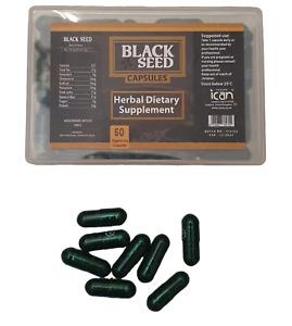 pure black seed capsules herbal dietary supplement 60 capsules