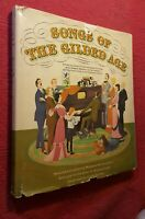 1960 Songs of the Gilded Age by Margaret Bradford Boni VTG Song Book Hardcover