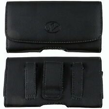 Leather Pouch For Sonim XP3400 Armor w/ Otterbox Case on it