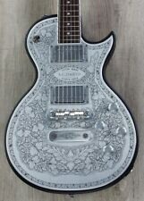 Zemaitis C22MF Casimere Metal Front Guitar, Black, Rosewood Board