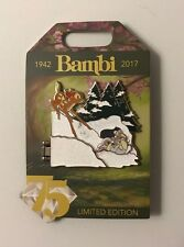 Disney Bambi 75 Years Characters in Snow Pin LE 3000 D23 Expo 2017 Exclusive