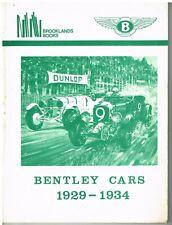 BENTLEY 3.5 LITRE 4.0 LITRE 4.5 LITRE 8 LITRE (1929-1934) PERIOD ROAD TESTS BOOK