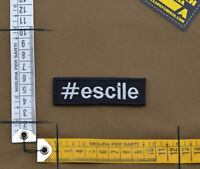 "Ricamata / Embroidered Patch ""Escile"" Black with VELCRO® brand hook"