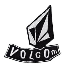 NEW VOLCOM LOGO SYMBOL BLACK WHITE EMBROIDERED SEW IRON ON PATCH SHIRT PO595