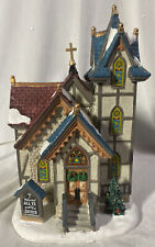 LEMAX ~ All Ye Faithful Church #85347~ Lit Stain Glass Windows ~ Never Displayed