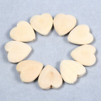 5-30Pcs Heart Natural Wood Teething Beads Unpainted Nursing Jewelry DIY Making