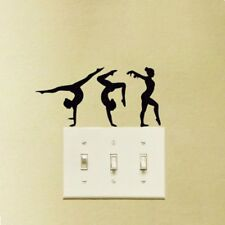 Gymnastics Light Switch Sticker Three Dancers Fashion Wall Decal Vinyl