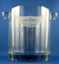 MOET CHANDON LIQUEUR Glass Petite Ice Bucket Advertising Bar Collectable Display