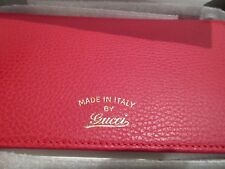 NEW Gucci 368231 Red Leather Trademark Logo Swing Crossbody Wallet Bag Purse