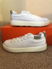 Nike Course Classic Leather Golf Shoes White Waterproof 904680-100 Womens 6