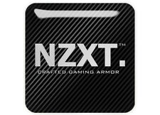 "NZXT 1""x1"" Chrome Domed Case Badge / Sticker Logo"