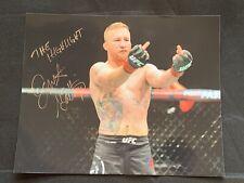 JUSTIN GAETHJE Autographed UFC CHAMPION 8x10 Photo ~Vs. KHABIB NURMAGOMEDOV~